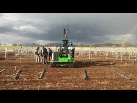 Groundwork Solar Pile Driver - Solar Pile Construction