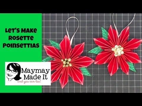 Rosette Poinsettias Tutorial