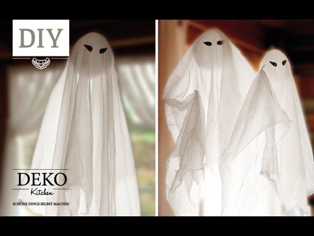 Diy Schwebende Halloween Gespenster In Nur 5 Min Basteln Deko Kitchen Youtube