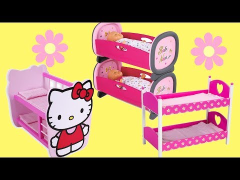Thumbnail: Hello Kitty Dolls Bunkbed Dimples Bunkbed Smoby Baby Nurse Twin Bed bunkbed Baby Annabell Baby Born