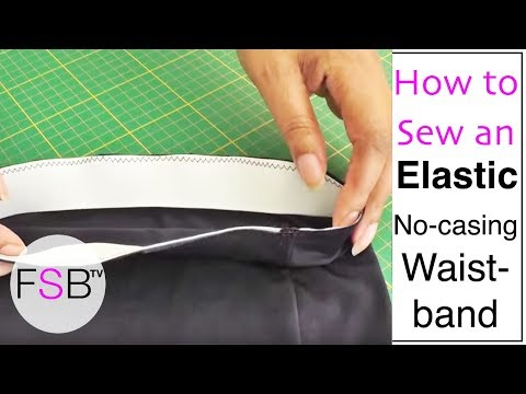 sewing-an-elastic-waistband-with-no-casing