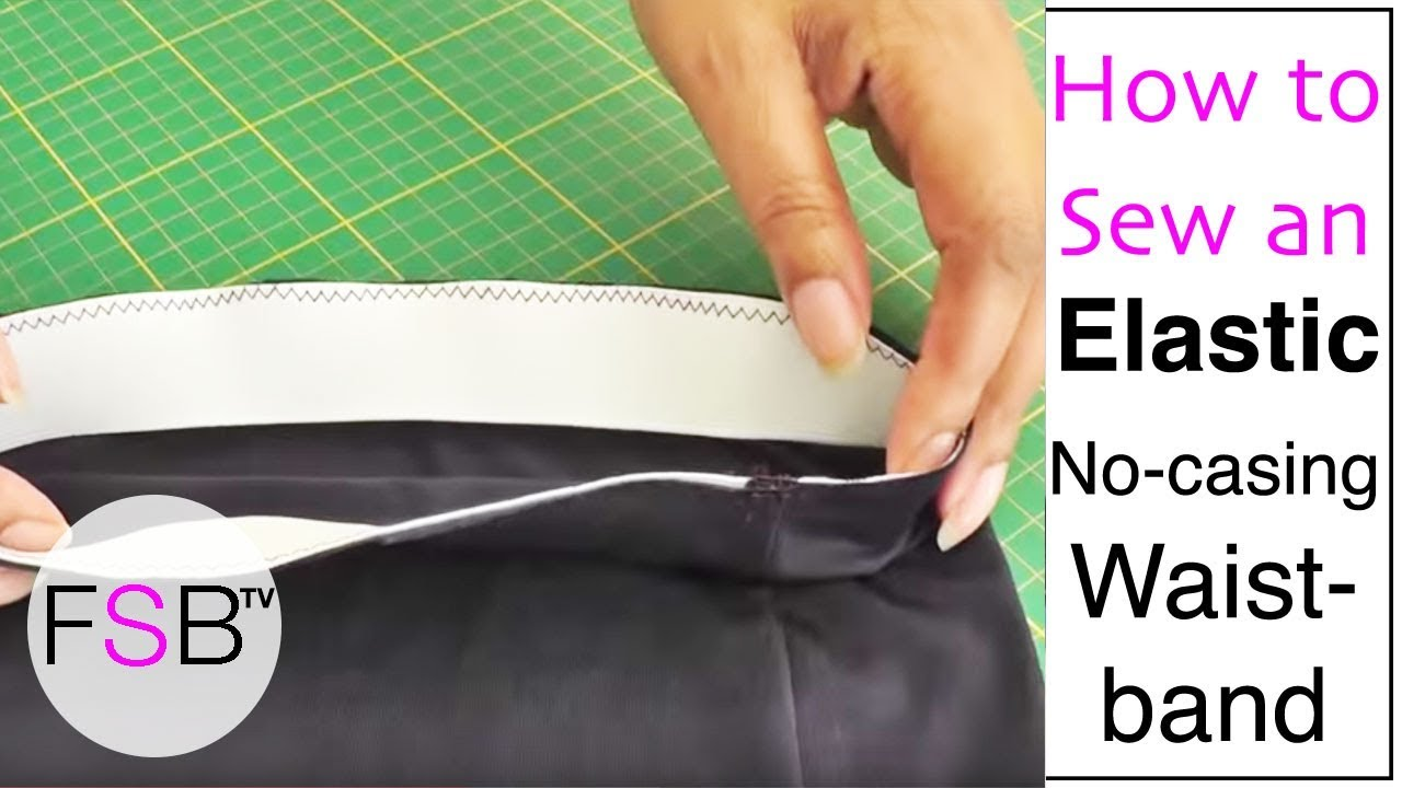 abcd9d007fa Sewing an Elastic Waistband with No Casing - YouTube