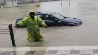 الأردن | السيول تجتاح العاصمة عمان وتتسبب في أضرار كبيرة