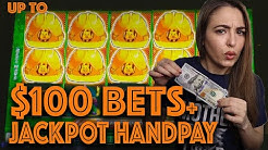 $100 SPINS + HANDPAY JACKPOT on HUFF n PUFF in Las Vegas!