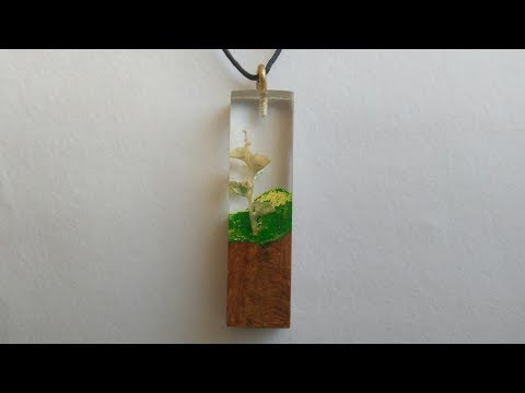 DIY Epoxy resin flower pendant necklace | flower in resin | flower pendant | flower