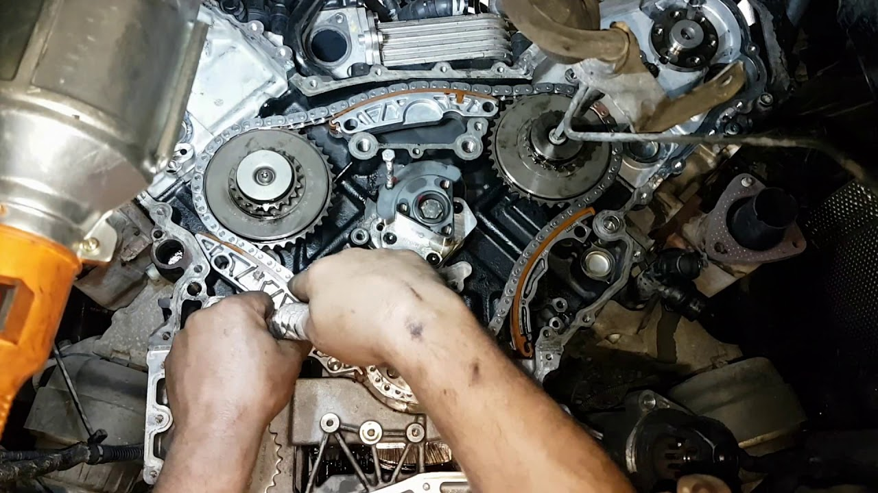 audi a6 2 7 tdi timing chain replacement time lapse 2005 audi a6 timing chain replacement on audi 2 7t engine diagram [ 1280 x 720 Pixel ]