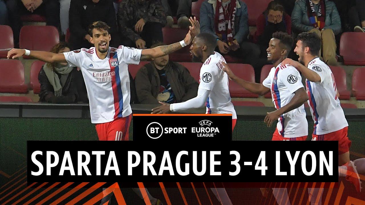 Sparta Prague vs Lyon (3-4) | Les Gones hit back to maintain 100% record | Europa League Highlights