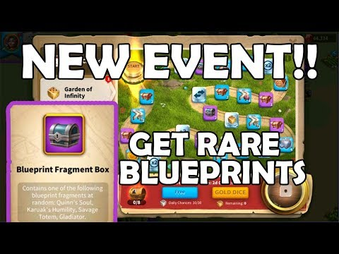 RARE BLUEPRINTS Can be Acquired [Garden of Infinity] | Rise of Kingdoms