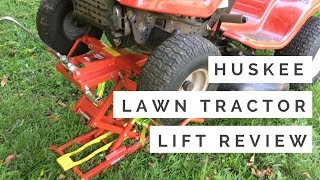 Huskee Lawn Tractor Lift Review And Real Life Demonstration