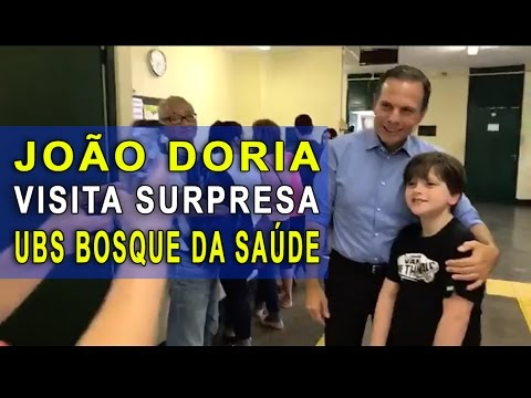 VISITA SURPRESA - João Doria visita UBS do Bosque da Saúde, Zona Sul