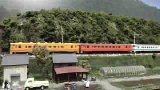 鉄道模型(N)田畑沿いのローカル線を走る道南いさりび鉄道 キハ40 1700形ディーゼルカー(3両編成)