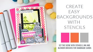 Create Easy Backgrounds With Stencils | DIY Backgrounds