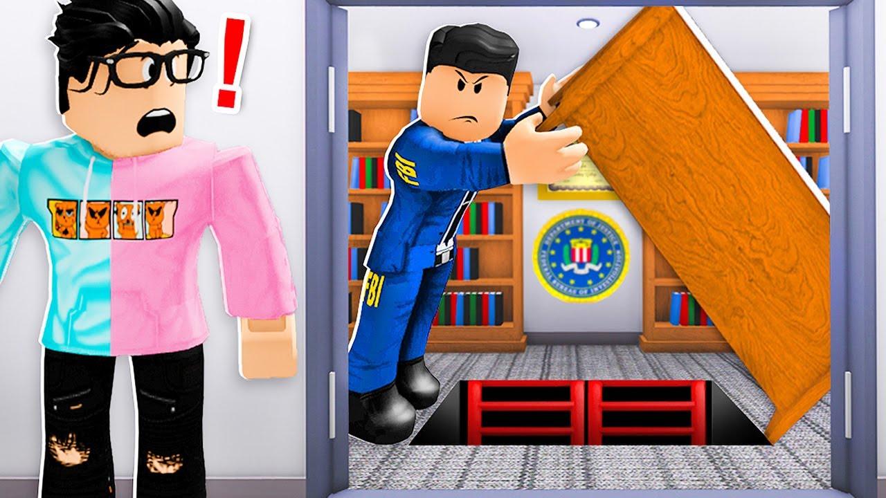 We Found FBI SECRET UNDERGROUND Base.. (Roblox Bloxburg)