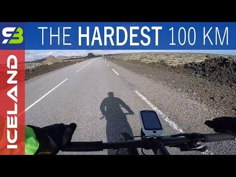 My Hardest 100 km Ever. Biking Through Windy Iceland... SickBiker