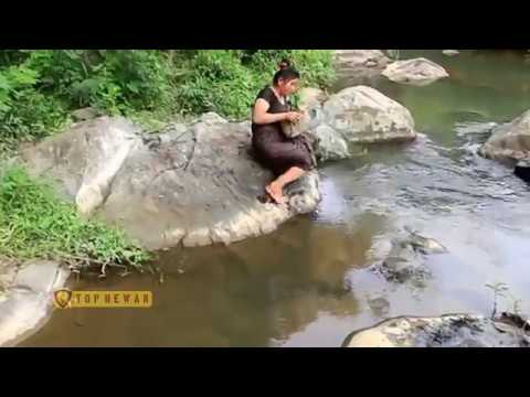 Primitive Technology   Cooking Big Cat Fish By Girl At River   Grilled Fish Eating Delicious
