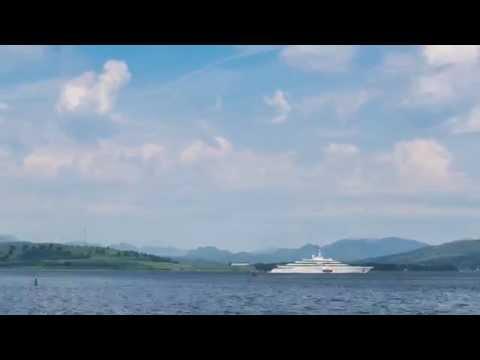 Roman Abramovich Yacht Timelapse Greenock Youtube