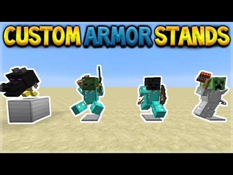CUSTOM ARMOR STANDS! Minecraft Pocket Edition Better Together Update  (CONCEPT)