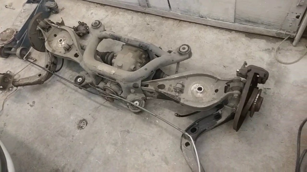 1999 Bmw E46 328i Rear Subframe Removed Youtube