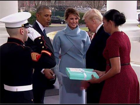 Barack obama michelle obama greet donald trump and melania trump at barack obama michelle obama greet donald trump and melania trump at the white m4hsunfo