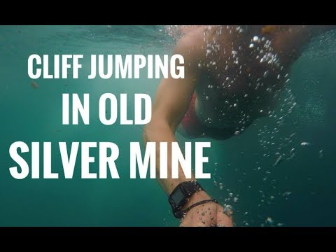 Cliff jumping in old silver mine!