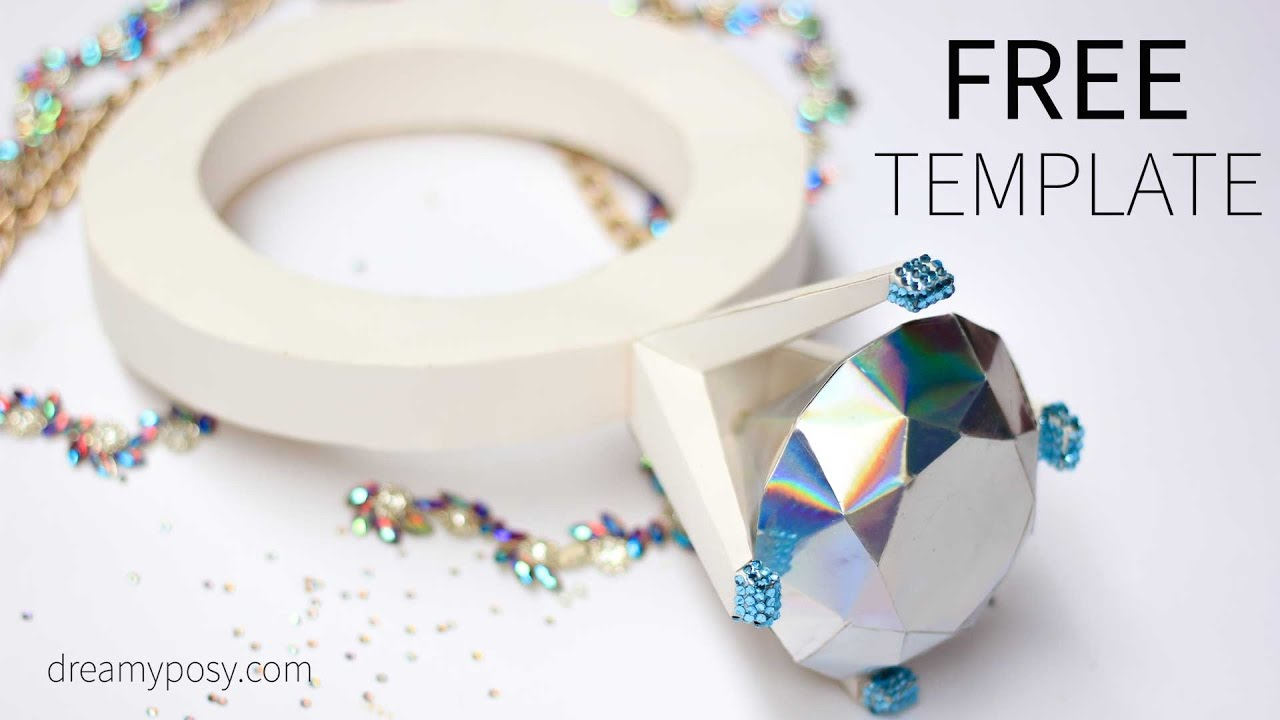 Diy Giant Diamond Ring Out Of Paper Free Template