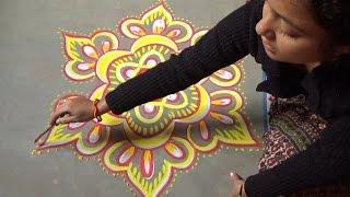 Alpana Decoration For Wedding - Chowkpurana