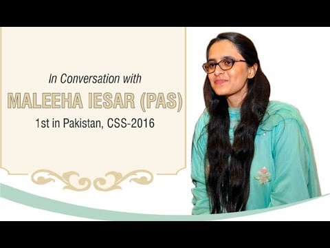 CSS Topper 2016 -Maleeha Iesar- Telling how to improve English Writing Skills for CSS Exams