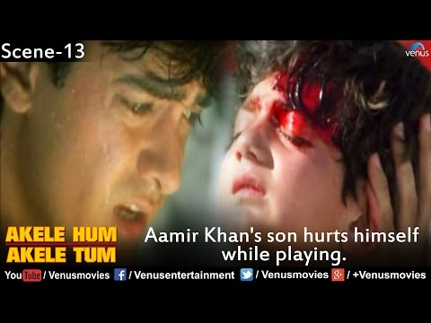 Aamir Khan's Son Hurts Himself While Playing On The Slide (Akele Hum Akele Tum)