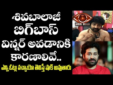 BiggBoss Winner Siva Balaji   Reasons Behind Siva Balaji
