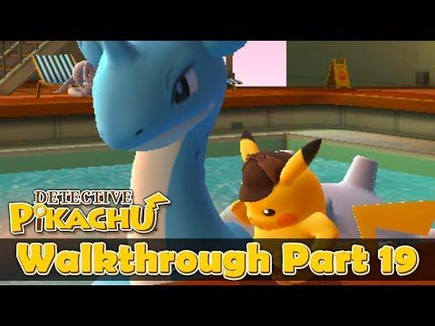 Detective Pikachu English Walkthrough Part 19: The secret Auction (HQ) No Commentary