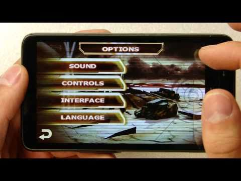Starfront: Collision HD on HTC HD2 (Android)