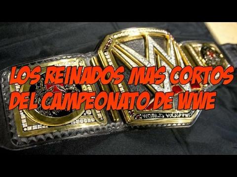 Los 5 Reinados Mas Cortos Del Campeonato De WWE (Loquendo)