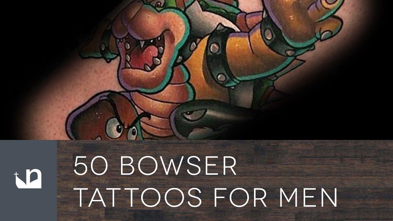50 Bowser Tattoo Ideas For Men – Mario World Fandom Designs