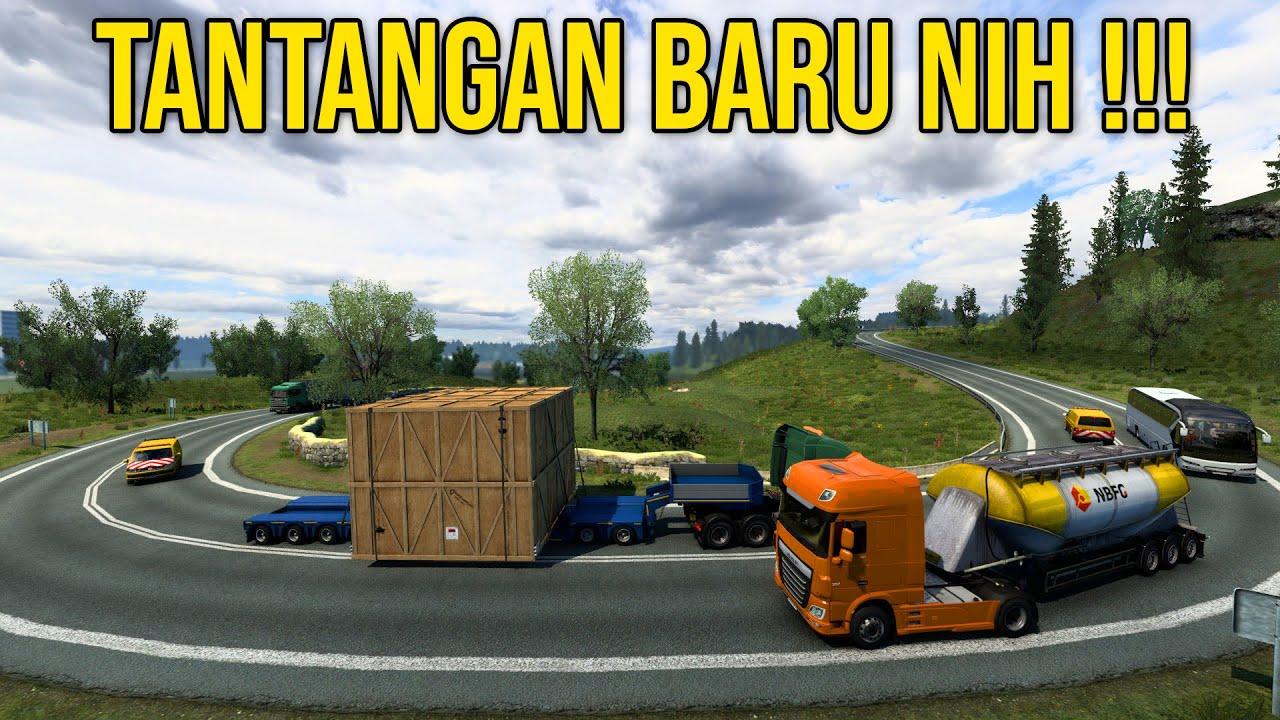 Di Kawal Bawa Muatan Besar Di Rute Yang Menantang GGWP - Euro Truck Simulator 2 Indonesia