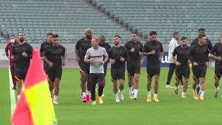 Galatasaray, Neftçi maçı öncesinde son antrenmanını gerçekleştirdi - BAKÜ