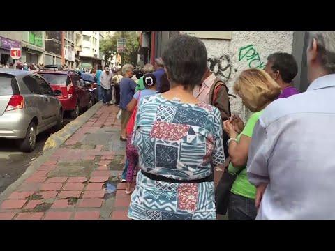 Venezuelan retirees demand pension checks