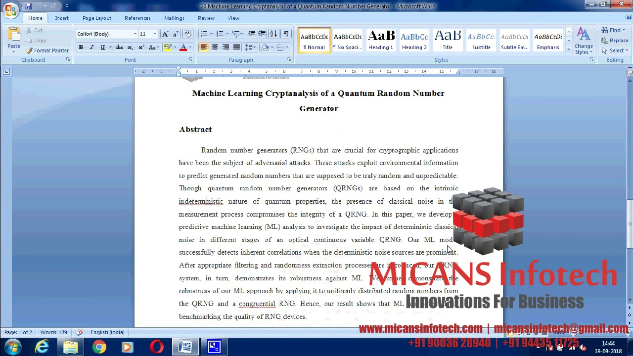 Machine Learning Cryptanalysis of a Quantum Random Number Generator- IEEE  PROJECTS 2018