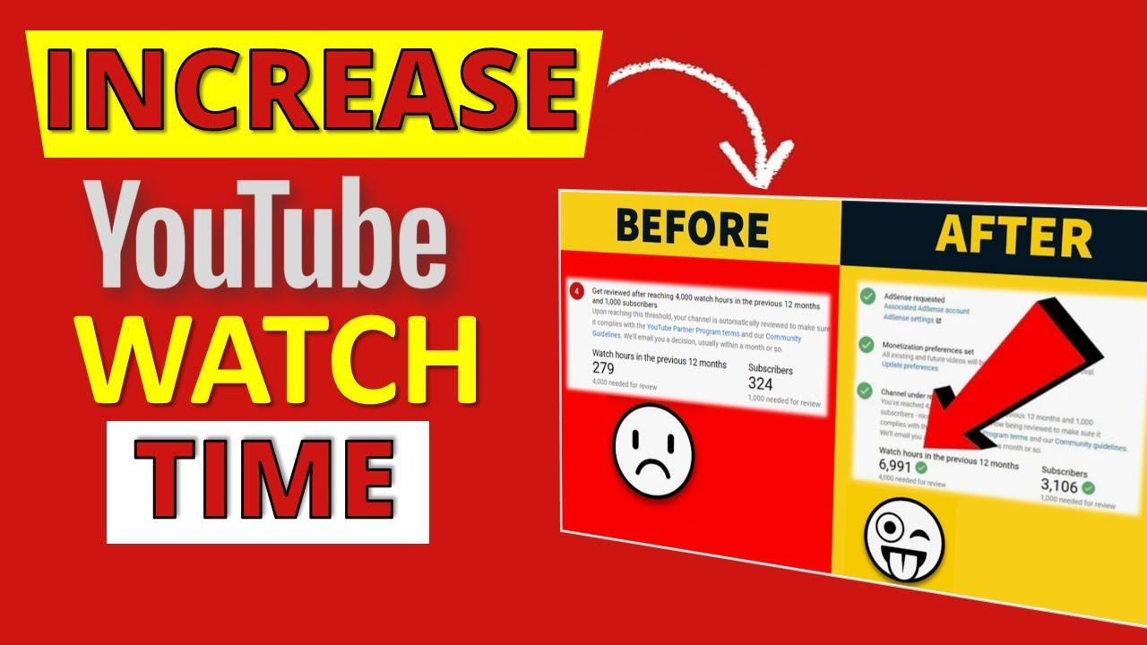 INCREASE YouTube Watch Time 💥 Get 4000 watch hours FAST - YouTube