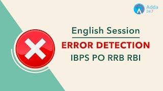 IBPS PO RRB RBI - Error Detection - English - Online Coaching for SBI IBPS Bank PO
