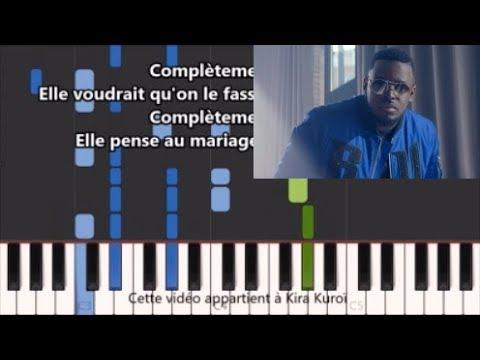 keblack - Complètement sonné - Karaoke / Piano synthesia tutorial (+ Paroles et partition)