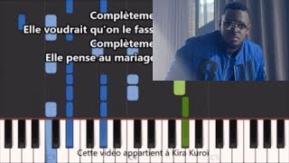 keblack - Complètement sonné - Karaoke / Piano synthesia tutorial (+ Paroles et partition)