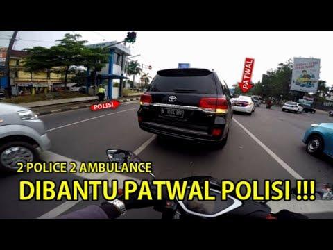 DIBANTU PATWAL POLISI 2 AMBULANCE SEKALIGUS | ESCORTING EMERGENCY AMBULANCE #19