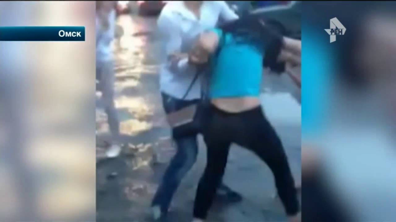 Драка в грязи девушек из Омска попала на видео - YouTube