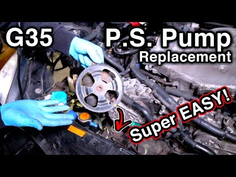 How to Replace Power Steering Pump Easily [Infiniti G35/Nissan 350Z] (w/Pro Tips)