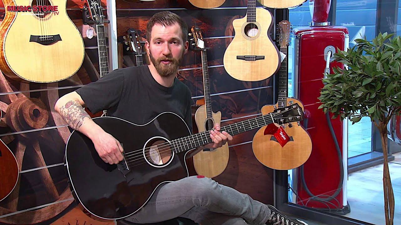 taylor 214ce blk dlx black highgloss gitarre youtube. Black Bedroom Furniture Sets. Home Design Ideas
