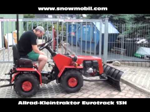 allrad kleintraktor eurotrack 13h 4wd mit schneeschild. Black Bedroom Furniture Sets. Home Design Ideas
