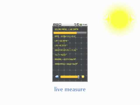 SolarMeter - GPS solar measure. Make solar energy estimation at your current location.