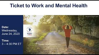 WISE Webinar 2020-06: Ticket to Work and Mental Health
