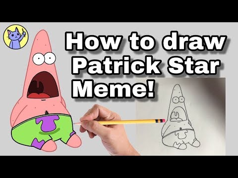 How To Draw Patrick Meme Step By Step Youtube