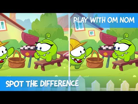Spot the Difference - Om Nom Stories: Engineer (Cut the Rope)